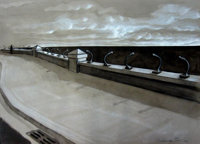1, 2, 3, Testing, 2000 / Mixed media on cardboard, 50 x 70 cm