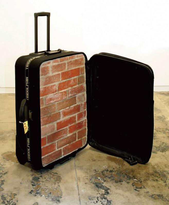 Nostalgia, 2004-2013 / Suitcase, bricks and cement / 85 x 54 x 35 cm