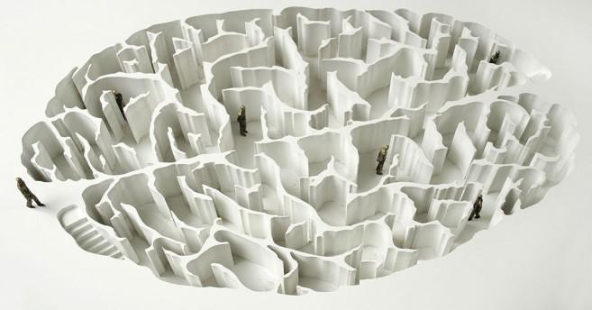 Open Mind, 2006-2008 (maquette) / PVC, bronce, metal y vidrio / 92 x 126 x 126 cm