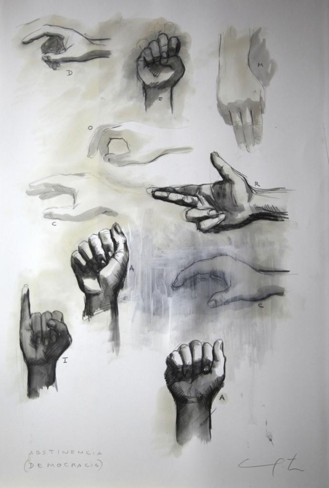 Abstinencia (Democracia), 2012 / Mixta/Cartulina / 70 x 50 cm