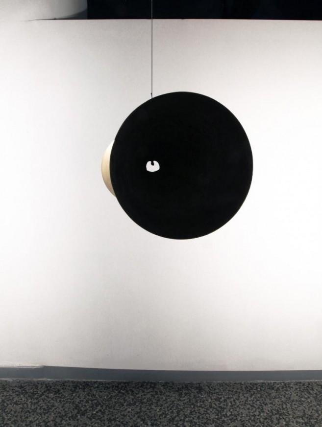 Dialogusphobia (a lump in the throat), 2011 / Bronze / 30 cm diameter x 79 cm