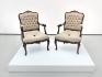 Lección de diplomacia (nose chair ), 2014 - 2015 / Caoba tallada y lino / 101.5  x 61 x 68.5 cm
