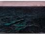 Isla (after Géricault), 2015 / Óleo, anzuelos y puntillas sobre lino y panel de plywood / 203 x 312 x 16 cm
