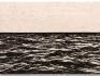 Isla (Negro y Blanco), 2015 / Óleo, anzuelos y puntillas sobre lino y panel de plywood / 104 x 157 x 8 cm