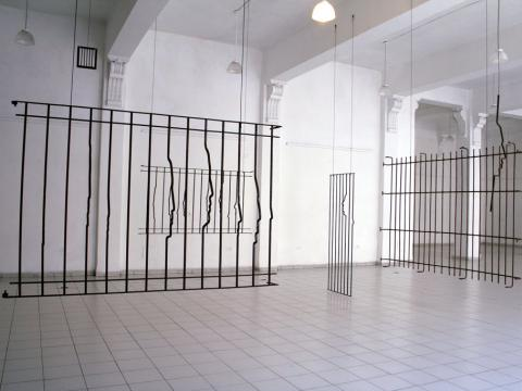 Paranoia (Installation), 2006-2007 / Steel bars / Dimensions variable
