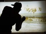 Obra en proceso / Trilogía Sucia de La Habana, 2012-2013 (Work in process) /Condones, montado entre  Plexiglas / tres caja de luz de madera / 102 X 152 x 12,7 cm