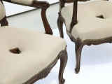 Diplomacy Lesson (nose chairs), 2014 - 2015 (detail) / Carved mahogany and linen  / 101.5  x 61 x 68.5 cm ( Variable dimensions )