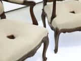 Lección de diplomacia (nose chair ), 2014 - 2015 (detalle) / Caoba tallada y lino / 101.5  x 61 x 68.5 cm