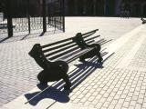 Forbidden park, 1999 / Cast aluminum, wood and copper / 100 x 300 x 120 cm