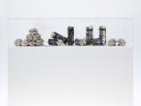 Carga (estática milagrosa), 2013 - 2015 / Impresión plata gelatina, concreto y mechas / Dimensiones variables