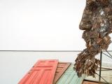 Inmanencia, 2015 ( Detalle ) / Bisagras, puertas de madera y  metal / 305 x 457 x 457 cm ( Dimensiones variables )