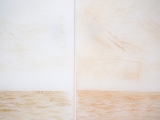 Cortes Profundos (visceral), 2015 (detalle) / Incisiones en tablas plásticas de cortar y sangre / 45 x 29 cm c/u