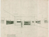 """Proyecto para la Instalación """"Isla"""", 2006 / Grafito sobre papel / 40 x 60 cm"""